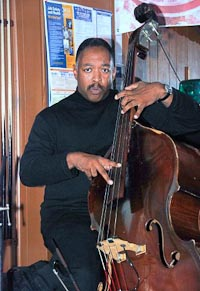 Photo: Lee Smith playing Upright Bass.
